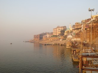 Along the Ganjes River in Varanasi, India.