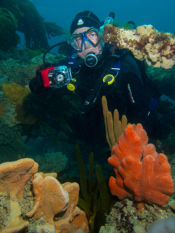 David with sponges on Eliza Ramsden