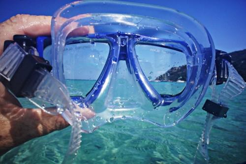 snorkel mask beach port phillip