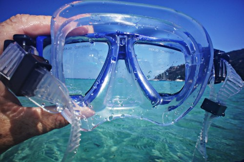 snorkel mask beach port phillip
