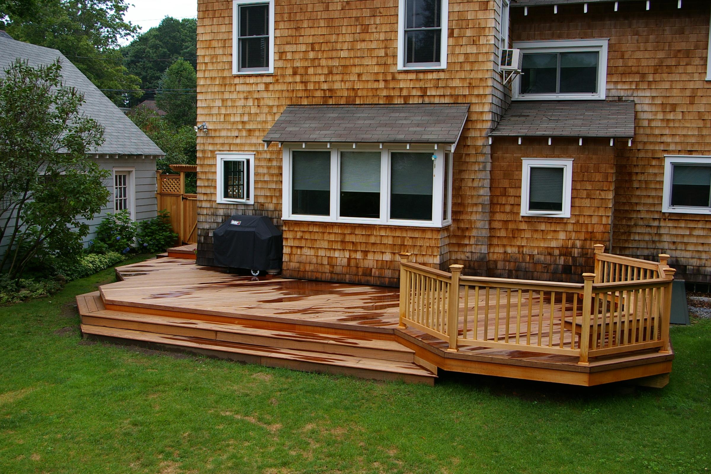 Wood Decks and High Outdoor Heat | Custom Decks of ... on Wood Deck Ideas For Backyard  id=41404