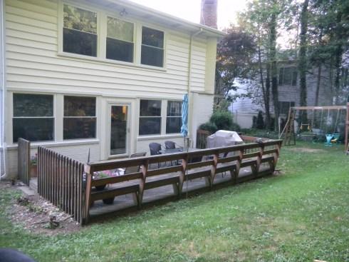 build build wood deck over concrete