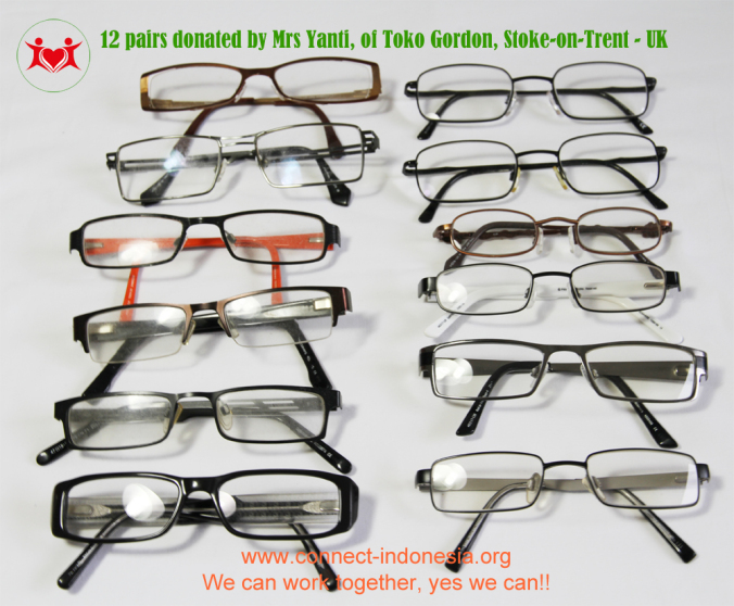 Glasses donation from Indonesian ladies in the UK