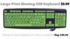 Klear Keys XL Glow-in-the-Dark USB Keyboard