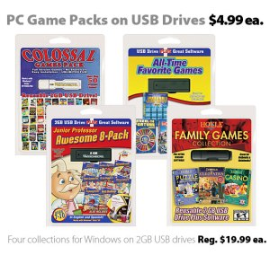PC Game Packs on USB Drives for $4.99 each