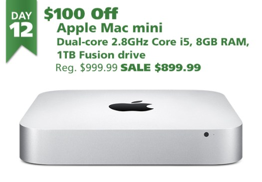 Apple Mac mini 2.8GHz Core i5 8GB 1 TB Fusion Drive for $899.99 ($100 off)