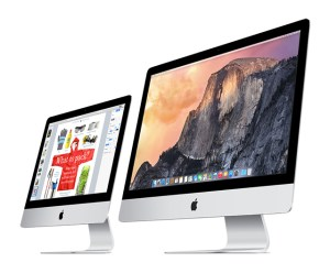 Apple iMac 21.5- and 27-inch models, side by side
