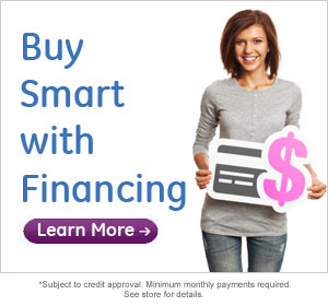 Special financing available from GE Money and Connecting Point