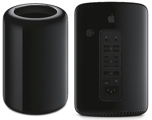 Apple Mac Pro 2013 - front and back