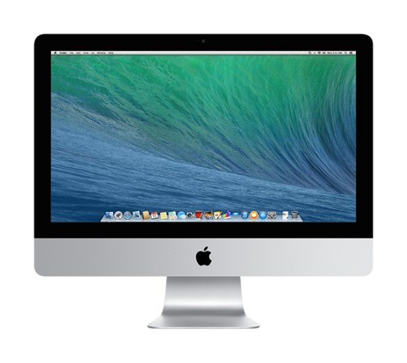 Apple iMac 21.5-inch, front view