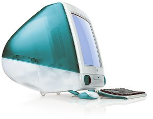 Original Apple iMac from 1998, in Bondi blue