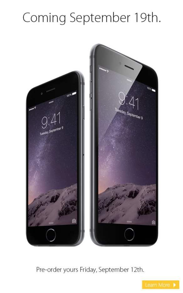 Pre-order your iPhone 6 or iPhone 6 Plus from Connecting Point 09.12.14