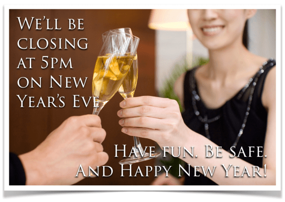Both Connecting Point locations will close at 5pm New Year's Eve (12/31/14)