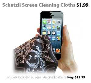 Schatzii Screen Cleaning Smart Cloths , on sale this week at Connecting Point for just $1.99