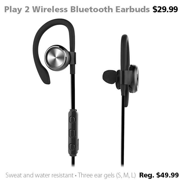 Deal of the Week | RevJams Play 2 Wireless Bluetooth Earbuds with Mic $29.99 (reg. $49.99)