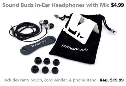 Sound Budz XST In-Ear Headphones for $4.99 (reg. $19.99)