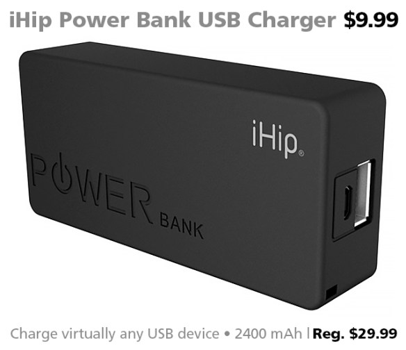 Connecting Point's Deal of the Week 09.23.16: iHip Power Bank 2400 mAh USB Charger for $9.99 (reg. $29.99)