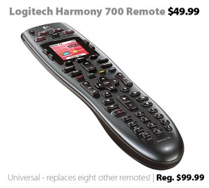 Logitech Harmony 700 Universal Remote for $49.99 (reg. $99.99)