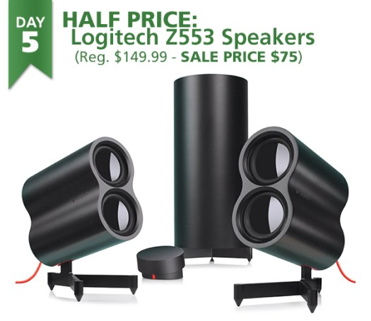 Connecting Point's 12 Days of Savings DAY 5: Logitech Z553 Speakers HALF PRICE