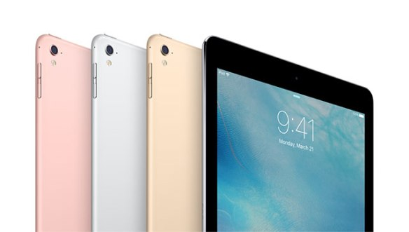 iPad Pro 9.7-inch, available in four colors