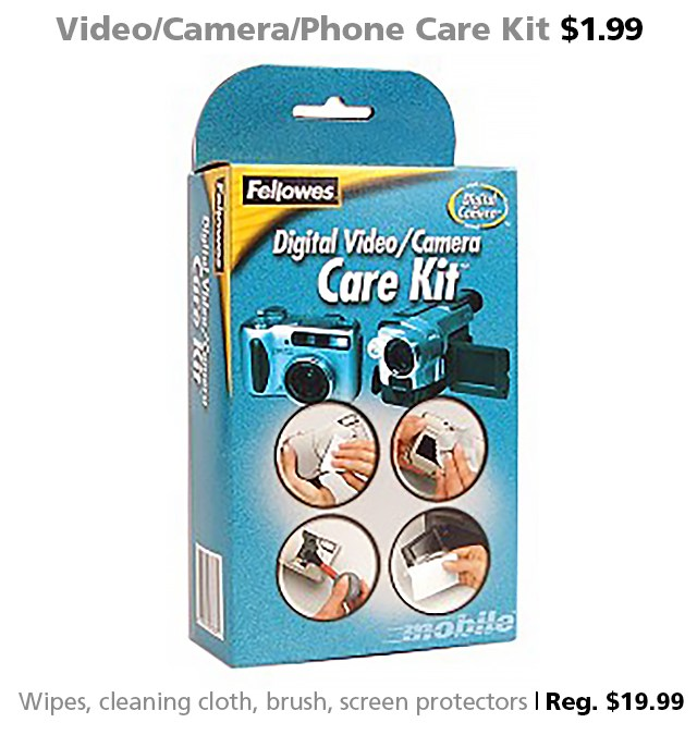 Deal of the Week | Apr. 29, 2016: Video/Camera/Phone Care Kit $1.99 (reg. $19.99)