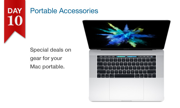 25% off all portable and laptop accessories (Dec. 22, 2016 only)