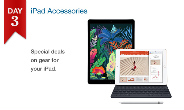 Connecting Point's 12 DAYS OF SAVINGS DAY 3 - 25% Off All iPad Accessories In Stock