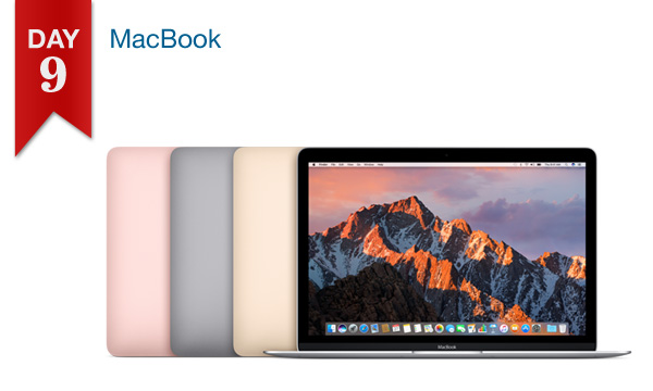 12 DAYS OF SAVINGS – DAY 9 (Wednesday, Dec. 21st): $50 Off All MacBook Models