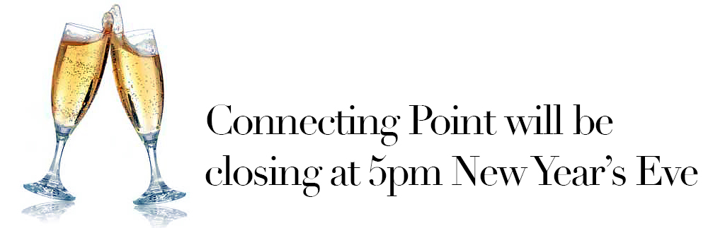 Connecting Point will be closing at 5pm on New Year's Eve
