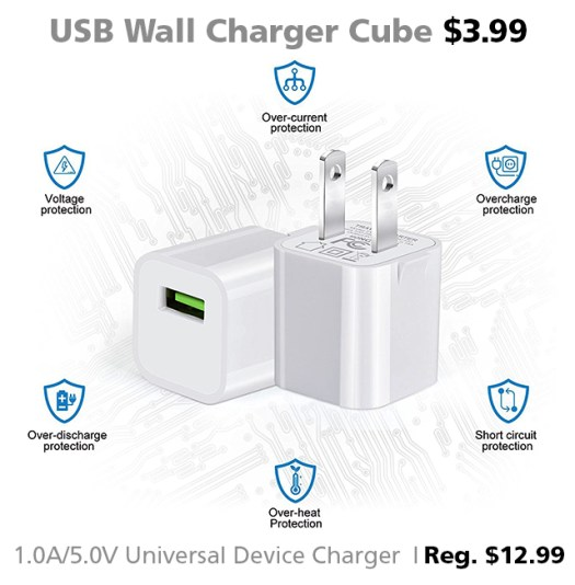 USB wall charger cube devices iPhone Connecting Point Medford OR