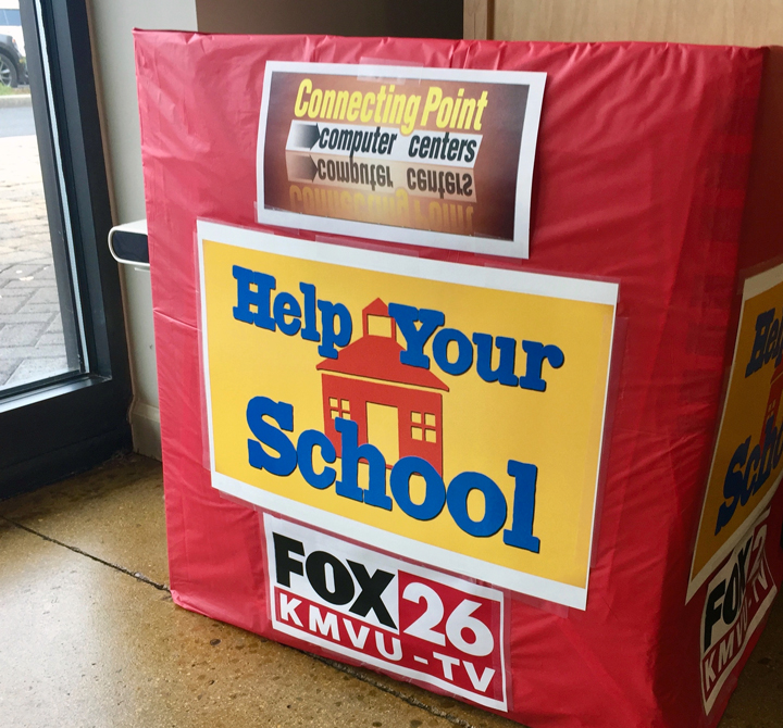 Help Your School supplies drive 2017 Connecting Point Medford Oregon