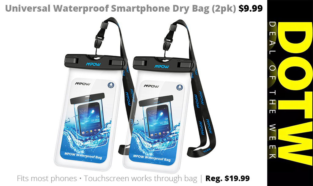 DOTW deal of the week Connecting Point Medford Oregon Rogue Valley Mpow universal waterproof smartphone dry bag sale bargain