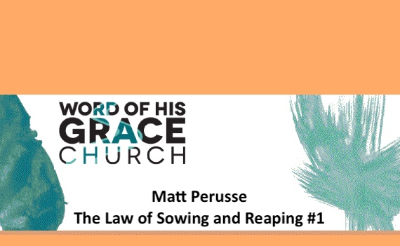 The Law of Sowing and Reaping #1