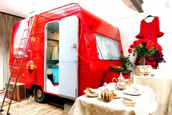 alojamiento diferente caravana airbnb
