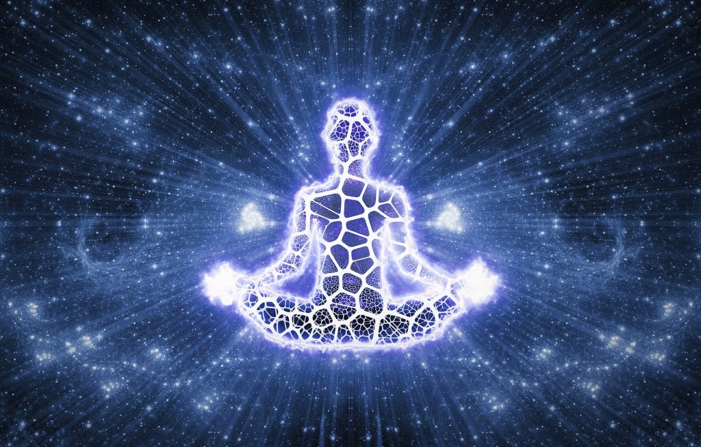 Meditating figure in light to show importance of mental health
