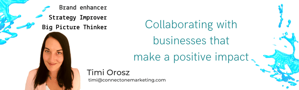 Timi Orosz Connect One Marketing contact details