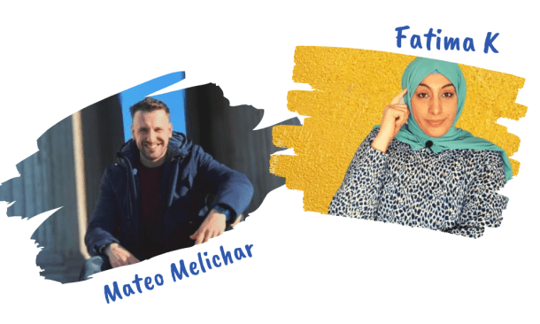 Fatima K and Mateo Melichar from Fit Fun Podcast talking about having balance