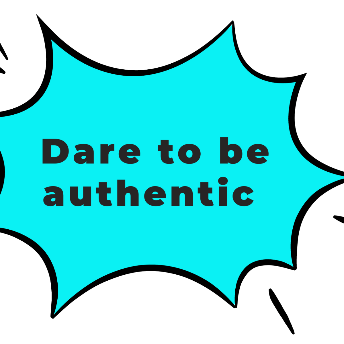 Dare to be authentic quote for spirituality industry blog post