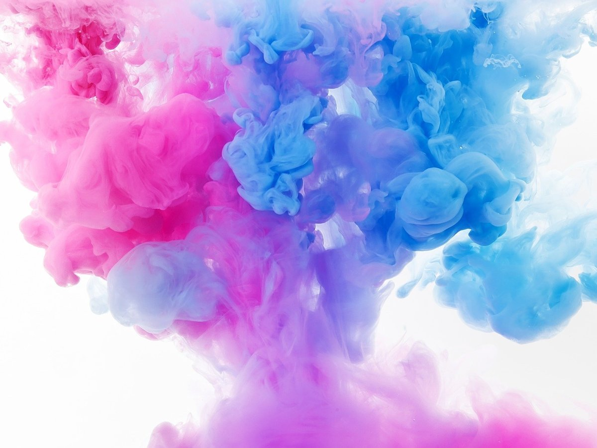 Paint splash blue and pink for being authentic in business blog post