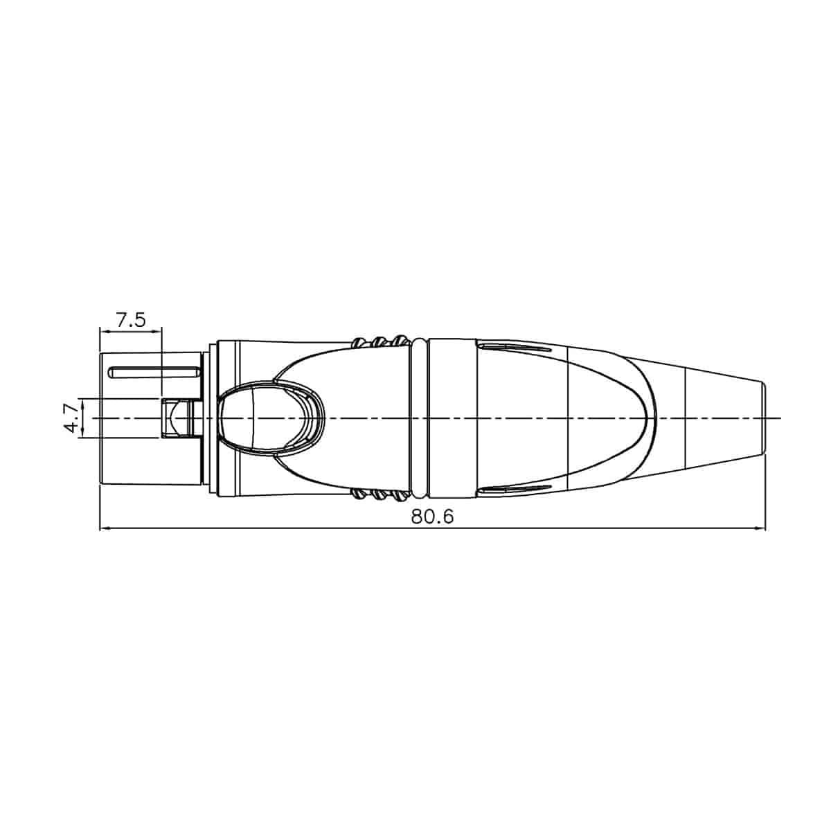 Enova Outdoor Xlr Kabelbuchse Ip67 5 Pol Lotanschluss