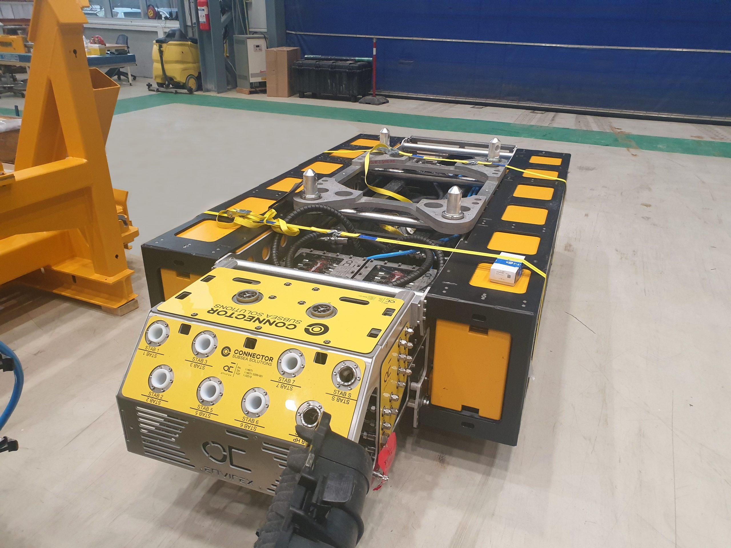 CSS ROV skid with 2 valve packs