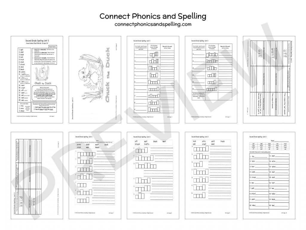 2nd Grade Spelling Connect Phonics And Spelling