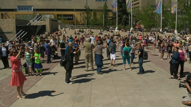 Sign language flash mob marks 50th anniversary of deaf society