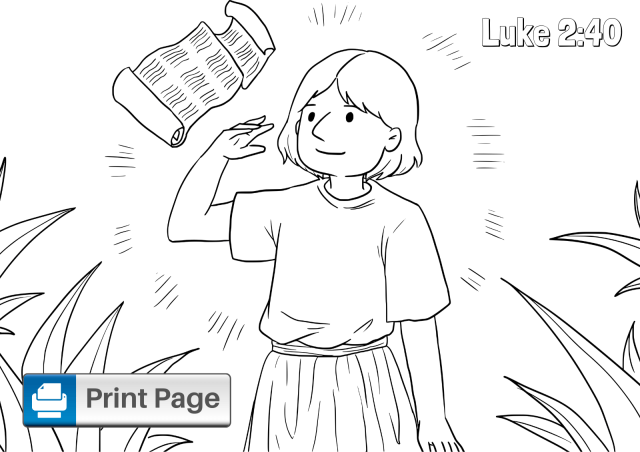 Boy Jesus in the Temple Coloring Pages for Kids – ConnectUS