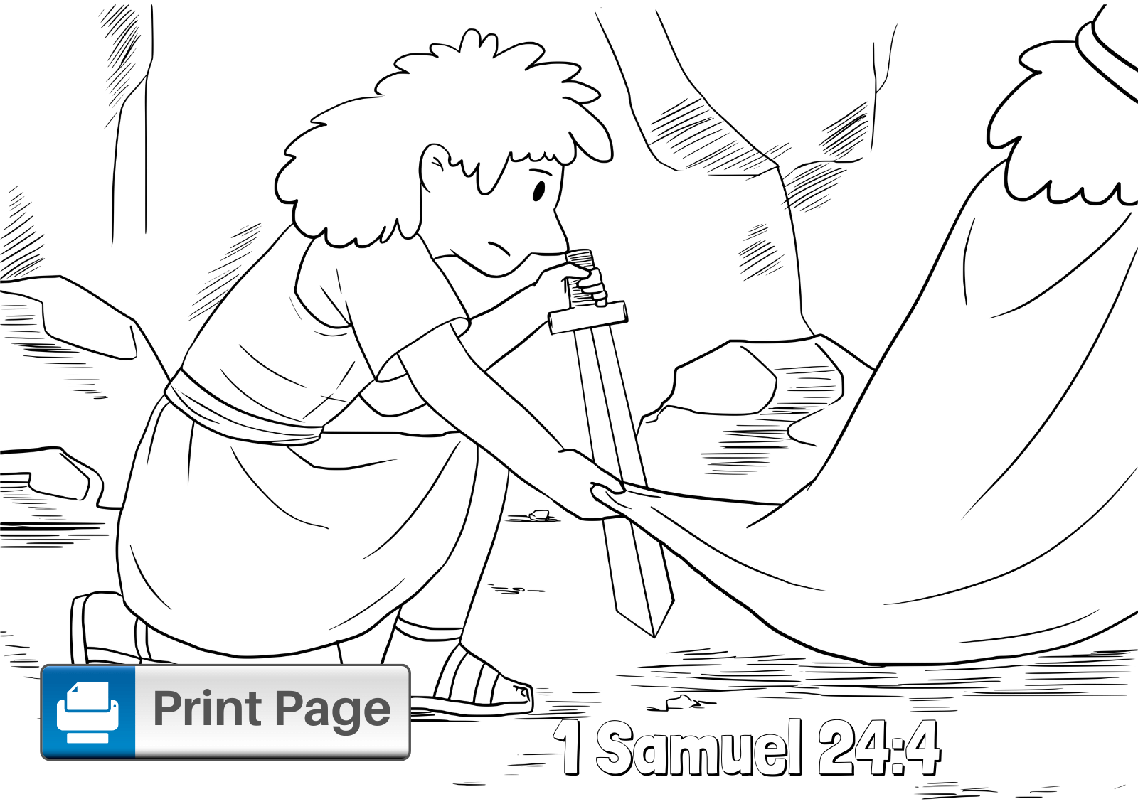 Free David Spares Saul Coloring Pages For Kids Connectus