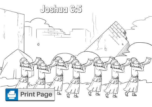 Free Walls of Jericho Coloring Pages for Kids (Printable PDFs