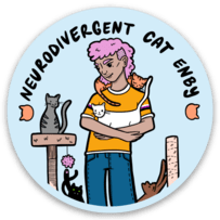 Neurodivergent Cat Enby sticker