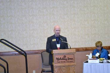 Announcer at a recent Toastmasters conference