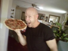 I love delicious homemade pizza!