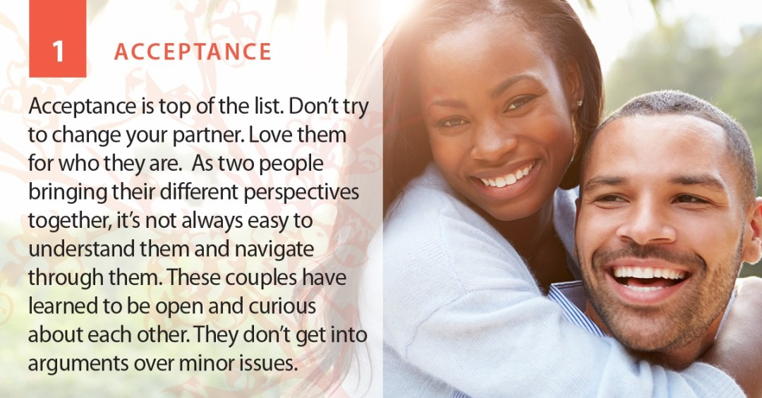 Acceptance is A Strength of Romantic Relationship